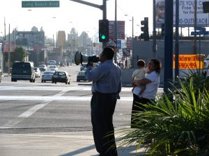Down LA River Part 11: street corner preacher with family
