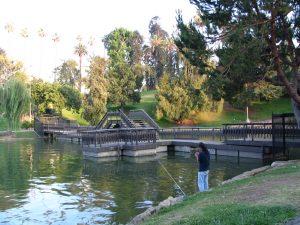 Down LA River Part 7: fishing at Hollenbeck Park