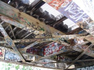 Down LA River Part 7: graffiti under bridge