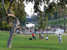 Down LA River Part 7: playing soccer at Hollenbeck Park
