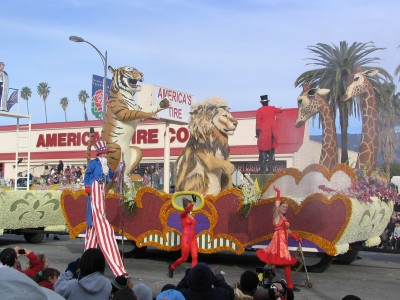 Rt. 66: 2008 Tournament of Roses Parade: circus comes to town 2
