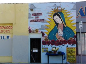Rt 66: Alhambra, South Pasadena: Virgin de Guadalupe mural