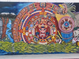 Rt. 66: Highland Park to Pasadena: Aztec mural