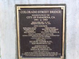 Rt. 66: Highland Park to Pasadena: Colorado St Bridge plaque