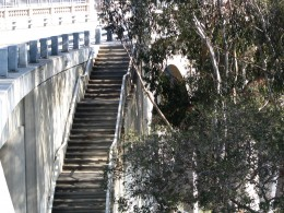 Rt. 66: Highland Park to Pasadena: Colorado St Bridge stairs