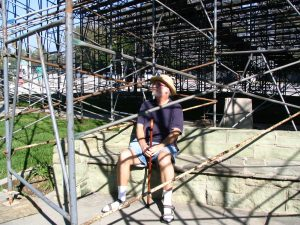 Rt. 66: Highland Park to Pasadena: John Varley under the bleachers