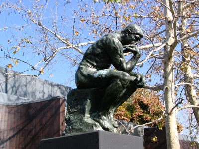 Rt. 66: Highland Park to Pasadena: Norton Simon, The Thinker