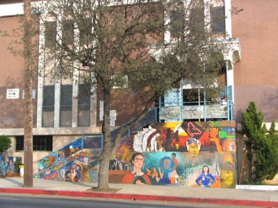 Rt. 66: Highland Park to Pasadena: mural, Burbank Middle School