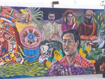 Rt. 66: Highland Park to Pasadena: mural, Cesar Chavez