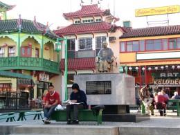 Rt 66: LA: Chinatown Chang Kai Shek statue