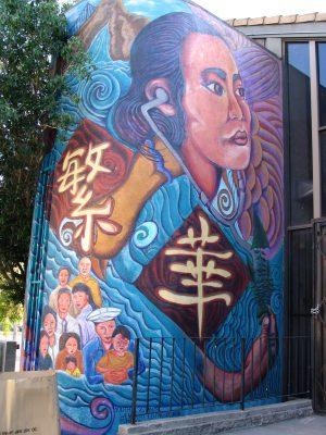 Rt 66: LA: Chinatown mura