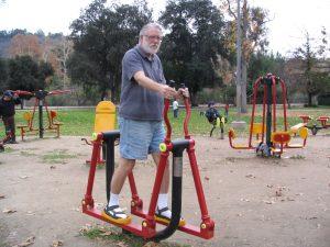 Rt 66: LA: John Varley exercising