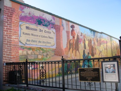 Rt 66: San Gabriel, Pasadena: Mission Art Center mural