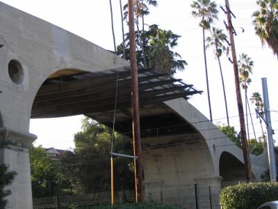 Rt 66: San Gabriel, Pasadena: pedestian bridge