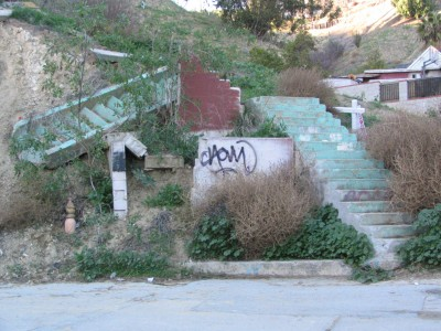 Rt 66: South El Sereno, Montecito Heights, Monterey Hills: sliding stairs