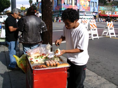 Rt. 66: Echo Park - Holiday Parade, Hot Dog Vendor