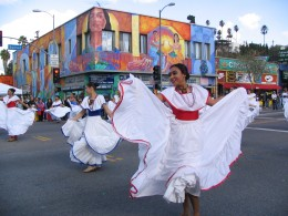 Rt. 66: Echo Park - Holiday Parade, dancers in white dresses