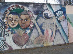 Rt. 66: Silverlake murals, St. Francis School-3