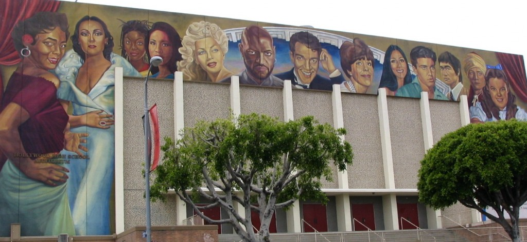 Sunset Boulevard - Part Eight: Out of the closet and deep into Hollywood: Hollywood High mural