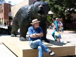Sunset Boulevard - Part Fifteen: UCLA, John Varley, Bruins sculpture 2