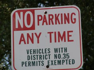 Sunset Boulevard - Part Fifteen: UCLA, no parking any time sign