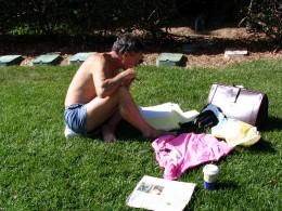 Sunset Boulevard - Part Fifteen: UCLA, student on lawn