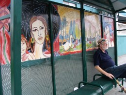 Sunset Boulevard - Part Four: Echo Park to Silverlake: John Varley, bus stop