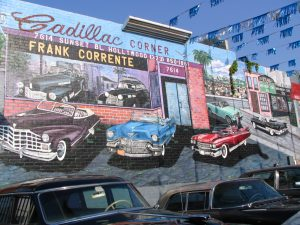 Sunset Boulevard – Part Nine: La Brea to Fairfax: Cadillac Corner mural