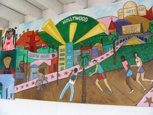 Sunset Boulevard - Part Six: Hooray! Hollywood! Hollywood mural 1