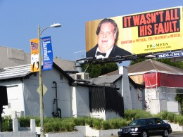 Sunset Boulevard – Part Ten: The Strip: it wasn't his fault billboard