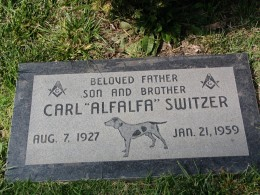"Sunset Boulevard – The Dead: Part 1 - Hollywood-Forever: Carl ""Alfalfa"" Switzer"