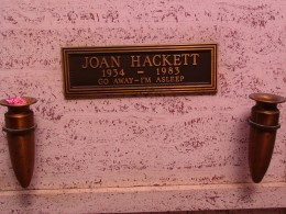 Sunset Boulevard – The Dead: Part 1 - Hollywood-Forever: Joan Hackett