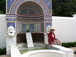 Sunset Boulevard – coda: Getty Villa, fountain