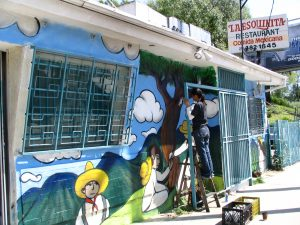 Sunset Boulevard-Part One: painting mural