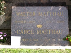 The Dead - Part 2: Pierce Brothers Westwood Village Memorial Park: Walter Matthau