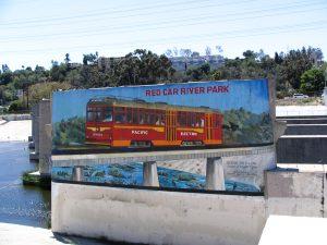 Up LA River Part 4: Red Car River Park billboard