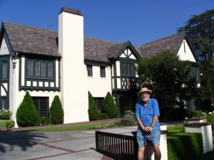 Wilshire Blvd Part 2: John Varley in front of The Getty House