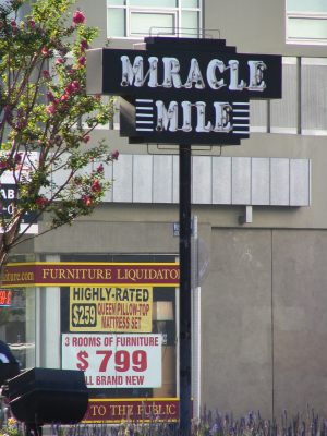Wilshire Blvd Part 3: Miracle Mile sign