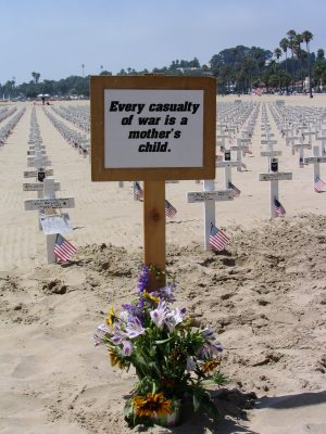 Arlington West: every casualty of war is a mother's child