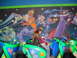 Disneyland and California Adventure Part 6: Buzz Lightyear cars