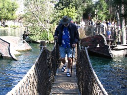 Disneyland and California Adventure Part 6: John Varley on barrel bridge