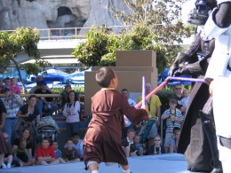 Disneyland and California Adventure Part 7: little guy takes on Darth Vader
