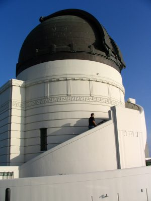 Griffith Observatory: climbing to telescope