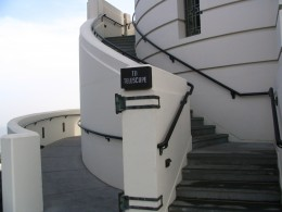 Griffith Observatory: stairs to telescope