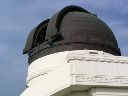 Griffith Observatory: telescope open