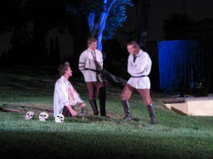 Hollywood Forever Hamlet: Gravedigger, Horatio, Hamlet