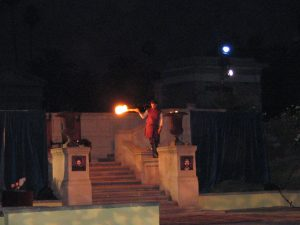 Hollywood Forever Hamlet: Lighting torches
