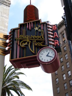 Hollywood & Vine clock