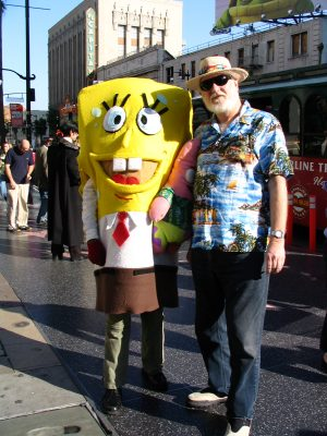 John Varley with Spongebob Squarepants