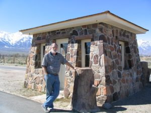 Manzanar: John Varley next to guardhouse